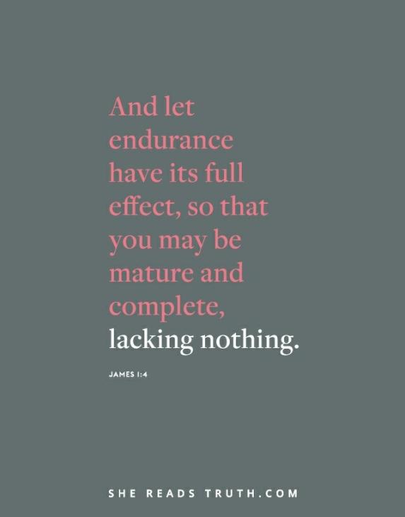 Endurance lacking nothing