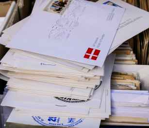 batch business close up envelopes
