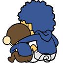 comforting friend