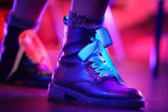 blur boots celebration close up