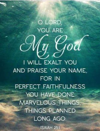 Isaiah 25.1